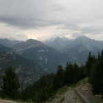 Вид на горы из деревни Вальфрежус